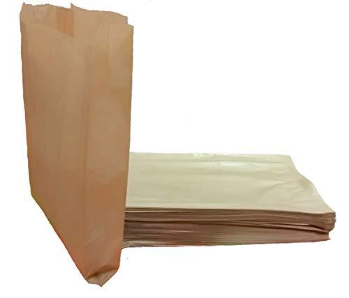 2f726b606 Yearol KC01 100 Bolsas de Papel Kraft estraza. 31 * 18 * 7 para bocadillos,  Sandwich, merienda, Palomitas, Almuerzo, Pan, Croissant, Churros, chuches,  ...