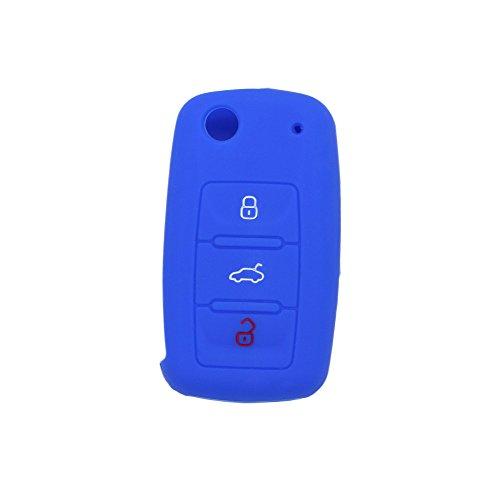 fassport-silicone-cover-skin-jacket-for-volkswagen-skoda-seat-3-button-flip-remote-key-cv2802-deep-b