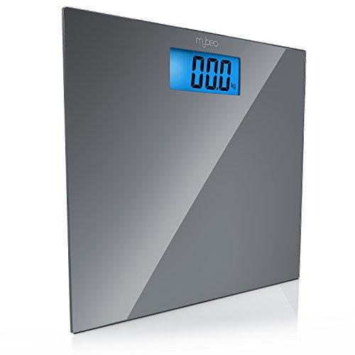 "Produktbild MyBeo - Digitale Personenwaage / Körperwaage / im Slim Design / max. 150kg / 4x DMS Mess-Sensoren / Kg,  lb,  st Einheit wählbar / 3, 5"" (8, 9cm) LED-Display"