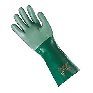 Ansell Größe 8grün Scorpio® 35,6cm Interlock Knit gefüttert 30mil Neopren vollständig Beschichtete schwere Pflicht chemikalienbeständig Handschuhe mit rauer Finish und Gauntlet Manschette