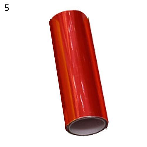 nieliangw0q 2 Stücke Auto Auto Rauch Nebelscheinwerfer Scheinwerfer Rücklicht Tönung Vinyl Film Blatt Aufkleber - Rot