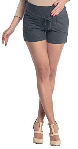 Zeta Ville Pantaloncini prémaman pannello elastico con tasche Donna 259c