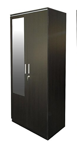 Zuari 2 Door Wardrobe with mirror (Imp teak/Silver grey)  available at amazon for Rs.13999