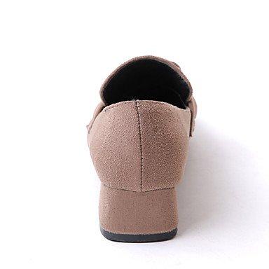 LYNXL Talloni delle donne Primavera Estate Autunno Inverno Dress Altro Fleece ufficio & carriera casuale tacco grosso nero Brown Khaki Black