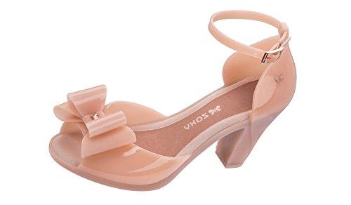 Zaxy Damen Glaze Sandal Bow T-Spangen, Pink (Rose Glitter), 41/42 EU
