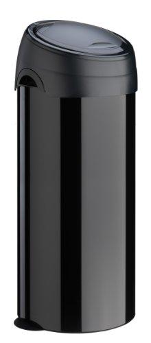Meliconi 14001253106BB Mülleimer Soft Touch Deluxe, Metall, 40l, Schwarz 40-liter Touch Bin