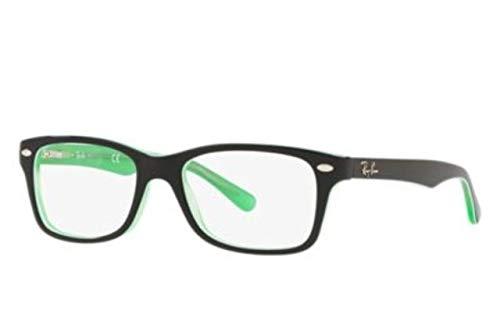 Ray-Ban Unisex-Erwachsene 0RY1531 Brillengestelle, Schwarz (Green Transparente On Top Black), 48