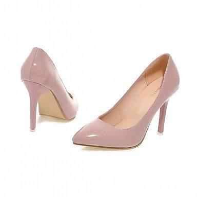 Talloni delle donne Primavera Autunno Dress Comfort in similpelle ufficio & carriera Stiletto Heel Casual Nero Rosa Rosso Grigio Gray
