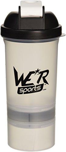 We R Sports XPS4000 Protéines shaker bouteille Noir