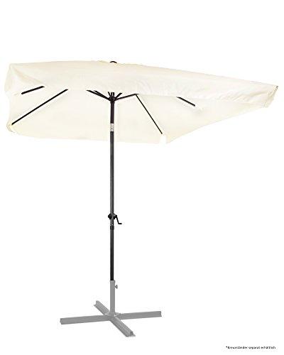 Ondis24 Marktschirm 3x2 Meter Sonnenschirm rechteckig mit Volant, Knick-Gelenk, Kurbel, Gestell aus...