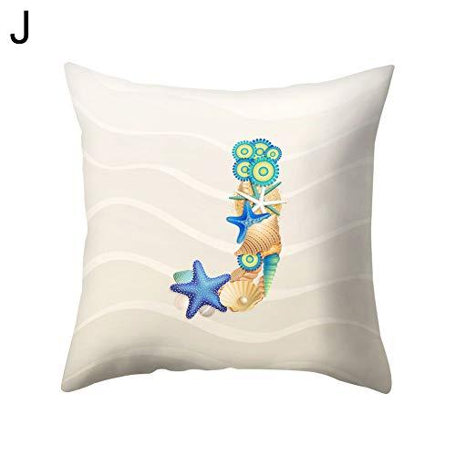 Starfish Letter Dekokissen Schutzhülle Kissenbezug Bettwäsche Artikel J ()
