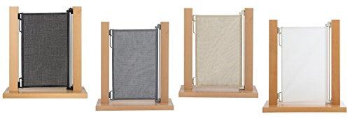 Impag HIGH Tür- und Treppenschutzgitter Rollo Extrahoch 105 cm ideal für große Menschen, einrollbar ausziehbar bis 150 cm Polar-Weiß