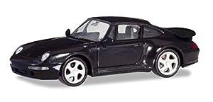 Herpa 021890-002 Porsche 911 Turbo (993) - Camión en Miniatura para coleccionar y como Regalo, Color Negro