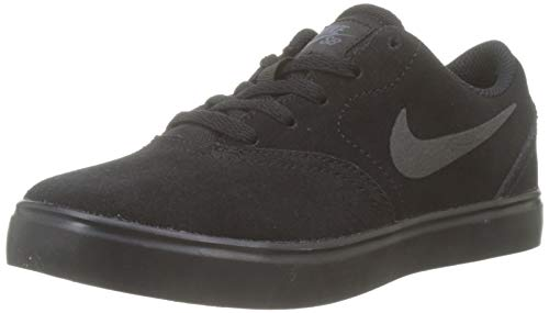 Nike SB Check Suede (PS), Scarpe da Skateboard Bambino, Nero Black-Anthracite 001, 27.5 EU