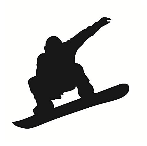 jqpwan Kinder Lieblingsspieler Silhouette Snowboard Wandtattoos Vinyl Kunst Wohnkultur Wohnzimmer Wandaufkleber Für Kinderzimmer Schwarz 61 * 58 Cm - Kunst Snowboard