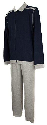 Ragno sport pigiama uomo in pile morbido e caldo manica lunga aperto con zip articolo n24762