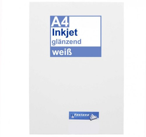 Inkjet Klebefolie 10 x DIN A4 weiß glänzend - Druckerfolie zum bedrucken mit Tinte - Drucker Tinte Kodak 10