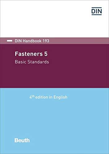Fasteners 5: Basic standards (DIN_Handbook)