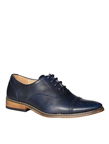 Paisley of London , Jungen Schnürhalbschuhe, blau - Navy - Größe: 36 2/3 EU (Jungen Schuhe Erstkommunion)