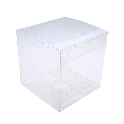 MYSTAR klar Plactic Cubes, Tuck Top PVC Boxen für Cupcake Hochzeit Party Favor 3.54