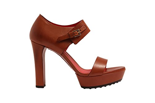Tod's , Sandales pour femme marron cuir 32 cuir