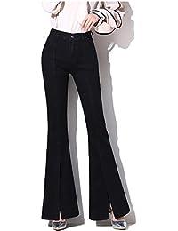 bee7f091db78 SFSF Jeans da Donna metà della Vita Pantaloni Slim a Gamba Larga Pantaloni  divisi in Due
