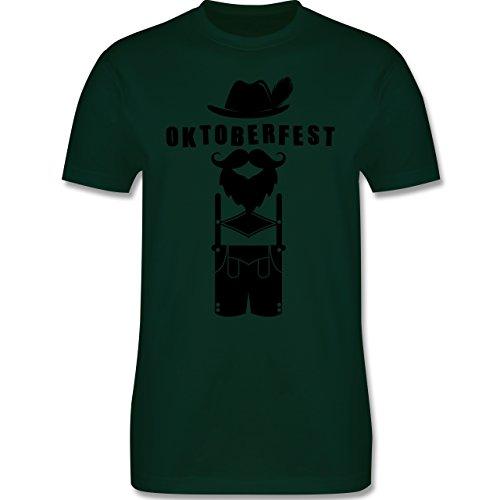 Oktoberfest Herren - Hipster Bayer Oktoberfest - Herren Premium T-Shirt Dunkelgrün