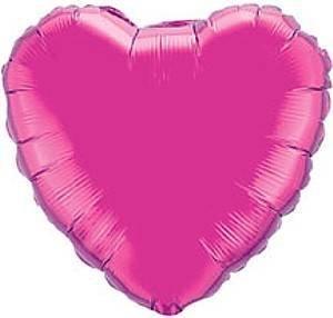 Rosa Acceso Aerostato Del Cuore - rosa 45.7cm piatto palloncino foil cuore - battesimo - nuziale - festa - anniversario - san valentino fucsia / magenta)