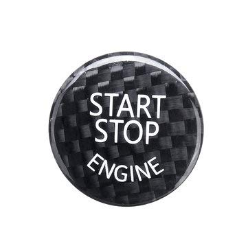 JenNiFer Start Stop Motor Knopfschalter Carbon Abdeckung Für BMW E60 E90 E91 E92 E93 3Er - Schwarz