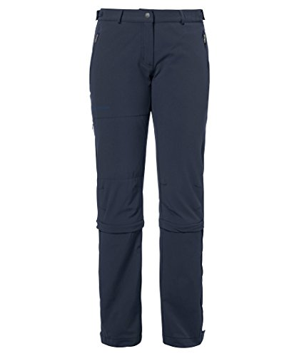 VAUDE Damen Women's Farley Stretch Capri T-Zip II Hose, blau (Eclipse), 40