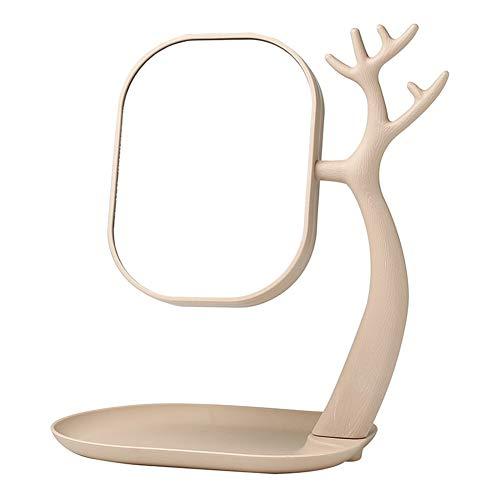 Gwo specchio per il trucco del desktop spaire verticale bifacciale ordinario e ingrandimento 3 volte 2 in 1 specchio girevole a 360 °