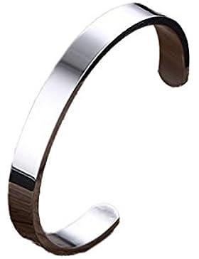 YAZILIND Titan Stahl Armband westlichen Punk-Stil Glatte offene Armreif für Männer Durchmesser 64mm