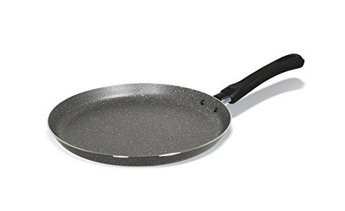 Bialetti Y0C5CR0250 Crêpière, Aluminium, Noir, 25 cm