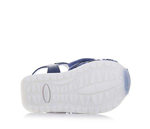 TWIN-SET – Blauer Schuh aus Wildleder und Leder, phantasievoll und modisch, mit Schnallenverschluss, auf der Vorderseite, Mädchen - 6