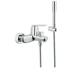 Grohe Eurosmart – Conjunto de ducha Mezclador de baño y ducha con Teleduchas   Ref. 32832000