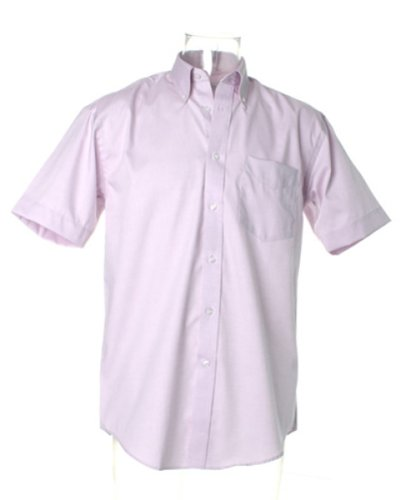 Kustom Kit Corporate Oxford Shirt Short Sleeved Mehrfarbig - Fliederfarben