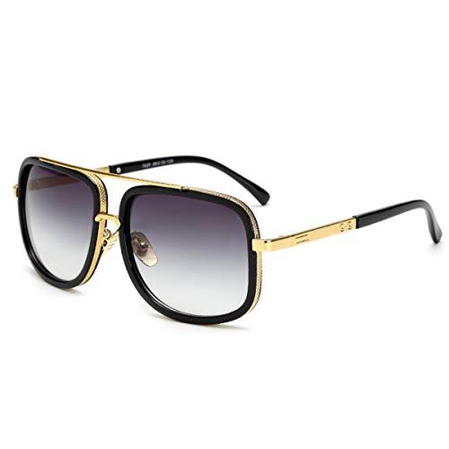 Sport-Sonnenbrillen, Vintage Sonnenbrillen, Oversized Men Mach One Sunglasses Men Luxury Brand Women Sun Glasses Square Male Retro De Sol Female Sunglasses For Men Women JY1828 C2 Dou black