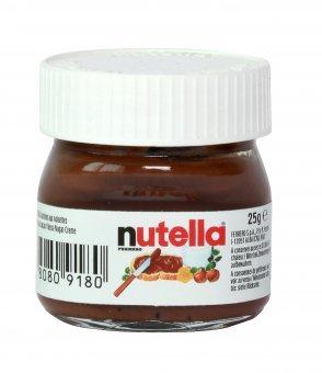 Nutella - Nuss-Nougat Schokoladenaufstrich im Mini-Glas - 25g (Nutella Ferrero)