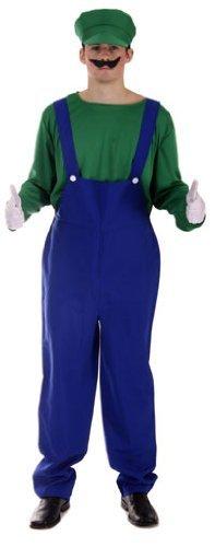 m - Grün, Herren Einheitsgröße (Mario Bros Kostüm Hut)