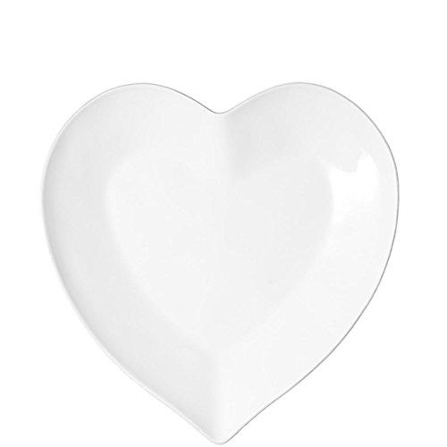 BUTLERS Heart Herz-Teller aus Porzellan - weiß - 13,5 cm