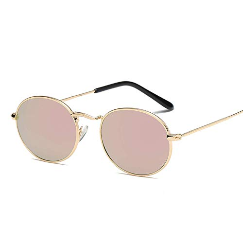 OULN1Y Sport Sonnenbrillen,Vintage Sonnenbrillen,Sunglass Frame Sunglasses Colorful Sunglasses Sunglasses Reflective Glass Vintage Metal Oval Small