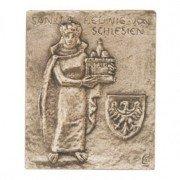Bronze Relief Hedwig von Schlesien, 13 x 10