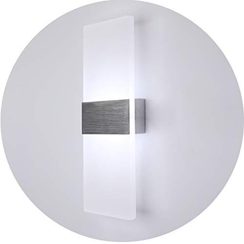 Topmo 12w lampada da parete a led applique ideale per camera da letto, soggiorno, scale e saloni / 290 * 11 * 4.8 mm/ lampada led corridoio in acrilico / alluminio spazzolato bianco freddo 6500kb 840lumen
