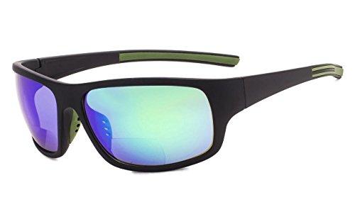 Eyekepper Bifokale Sonnenbrille +2.50 Stärke Lesen Sonnenbrillen (Grün Spiegel)