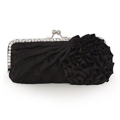 pwne L. In West Wome Die Elegante Hochwertige Handgefertigte Blume Diamanten Abend Tasche Black