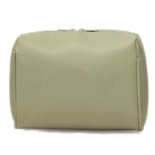 Kosmetiktasche, 1 Stück, einfarbig, für Damen, Kosmetiktasche, Make-up-Organizer, Reisetasche, tragbare Kulturtasche grün grün
