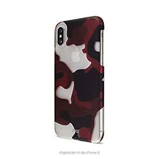 Artwizz Camouflage Clip for iPhone Xs Max - Design Case in Unique Camouflage Look with Soft-Touch Coating and Smooth Grip - Designed in Berlin Germany, Color:red
