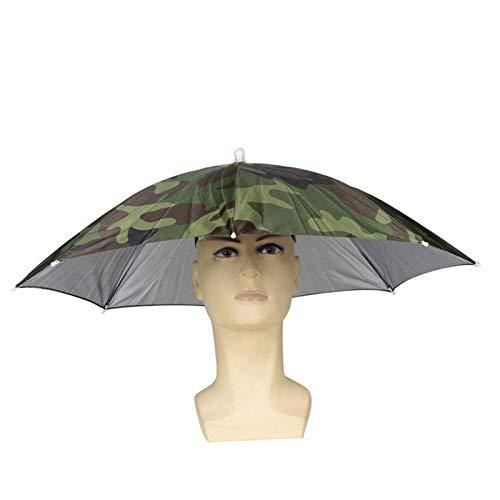 Erwachsene Kostüm Für Frei Einfache - Wuudi Hat Regenschirm Faltbar Sonne Regen Regenschirm Cap Verstellbar Angelschirm Hat Outdoor mit Kopfbedeckungen für Erwachsene und Kinder