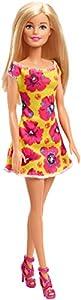 Barbie - Fashionista Muñeca Rubia con Vestido Amarillo con Flores (Mattel GBK93)