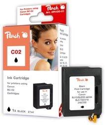 Preisvergleich Produktbild Peach Druckkopf schwarz kompatibel zu Lexmark, Canon, IBM, Epson, Konica Minolta, Brother, Ricoh, Apple BC-02 bk